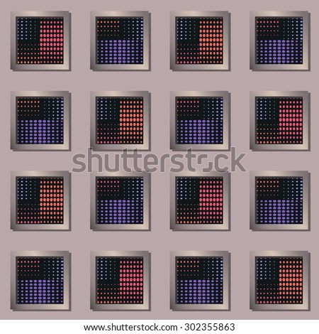 Elegant geometric background with the effect windows and pattern of dots