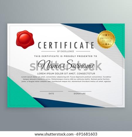 Elegant geometric certificate design template stock vector elegant geometric certificate design template yadclub Images