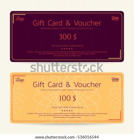 Elegant Gift Voucher Gift Card Template Vector 530508550 – Voucher Card Template