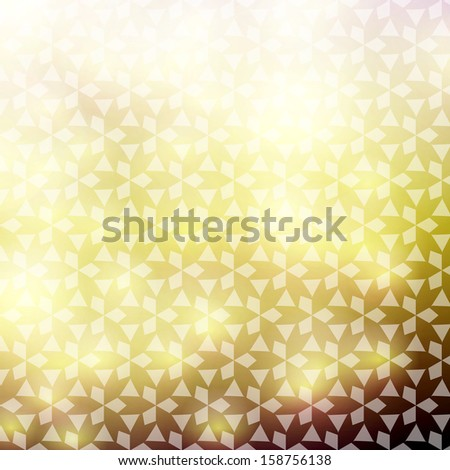 Elegant gold damask background, slightly grungy texture and light effects - stock vector