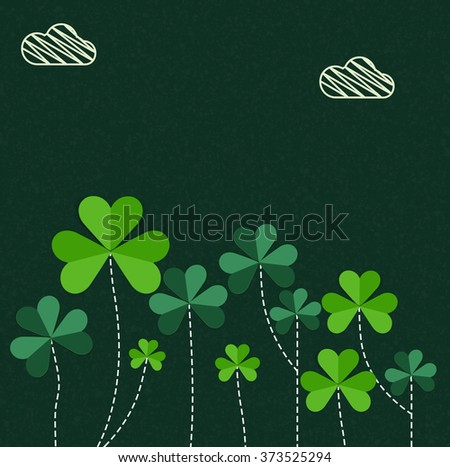 Elegant greeting card design decorated with beautiful Shamrock Leaves for Happy St. Patrick's Day celebration. - stock vector