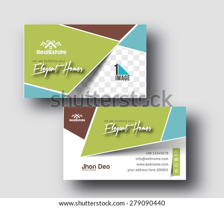 Elegant Homes Business Card Vector Template. - stock vector