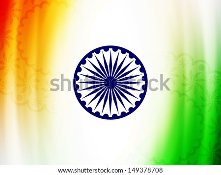 Elegant Indian flag theme background design for Indian independence day and republic day. vector illustration - stock vector