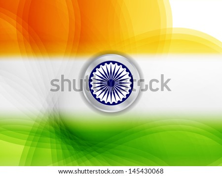 Elegant Indian flag theme design for republic day and independence day. vector illustration - stock vector