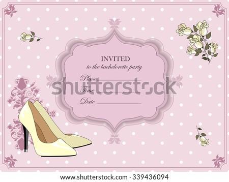Elegant Invitation For A Bachelorette Party