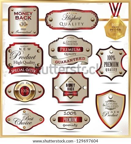 Elegant labels - stock vector