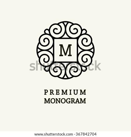 Free monogram template