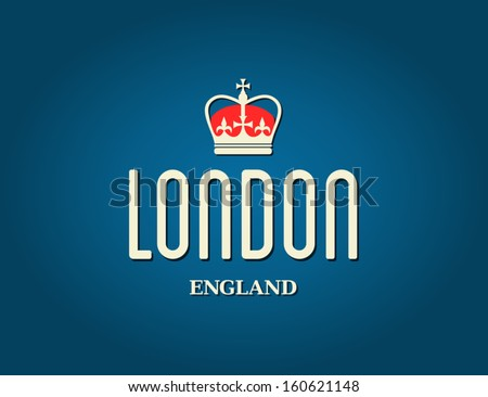 Elegant London greeting card design. - stock vector