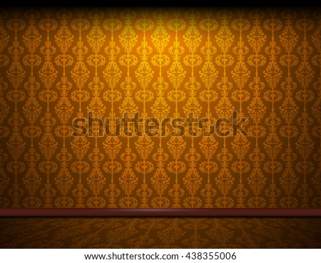 Elegant Luxury Damask Vintage Wall Thai Design Interior Wallpaper Abstract Vector