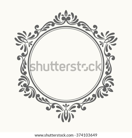 Elegant luxury retro floral frame design stock vector 374103649 design template for banner card invitation label stopboris Images