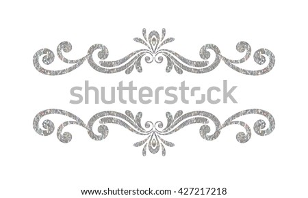 Decorative Line Border With Heart Black And White Grey