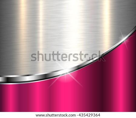 Elegant metallic background, vector design. - stock vector