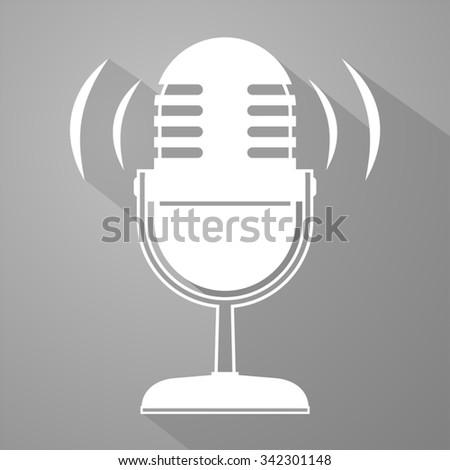 elegant microphone symbol - stock vector
