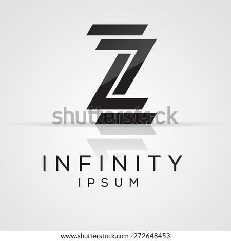 Elegant Minimal Letter Symbol Alphabet Z Logo Design Vector Illustration