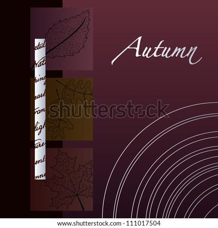 Elegant Minimalist Autumn Background (Eps10); - stock vector