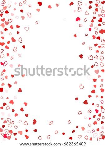 Elegant minimalist wedding background invitation card stock vector elegant minimalist wedding background invitation card template vector heart confetti border with place for stopboris Images