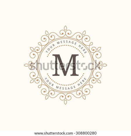 Elegant monogram design template. Calligraphic vintage ornament. Can be used for label and invitation design .Business sign, monogram identity for restaurant, boutique, cafe, hotel, heraldic, jewelry. - stock vector