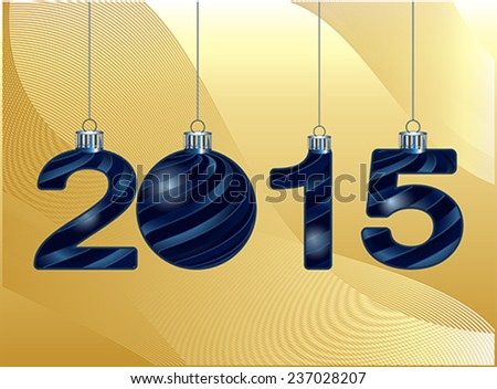 elegant New Year 2015  background, vector