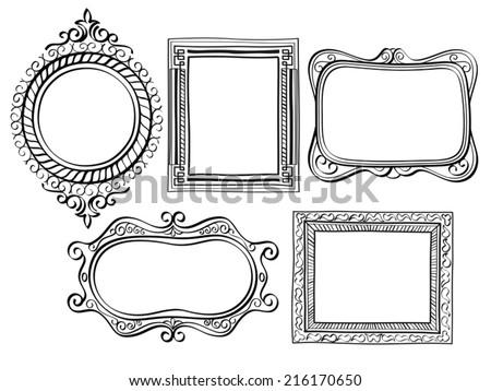 Elegant Ornate frames - stock vector