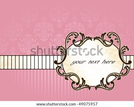 Elegant oval French vintage label, horizontal (Eps10); JPG version also available - stock vector