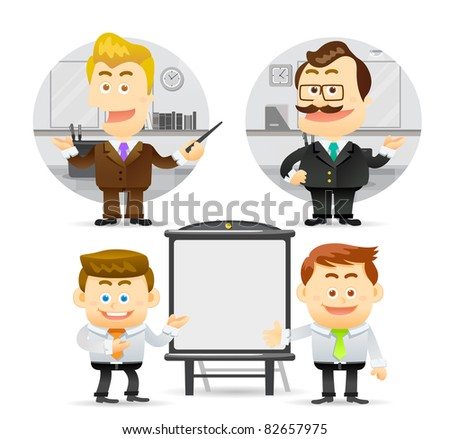 Elegant People Series | business man with successful brief - stock vector