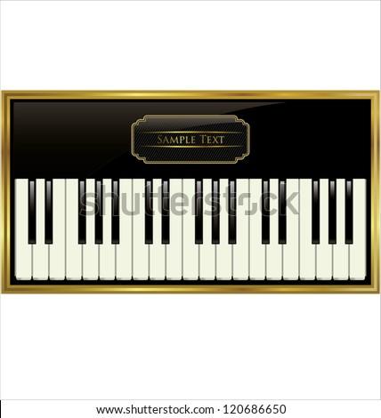 Elegant piano background - stock vector