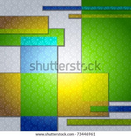 Elegant pop-art background (EPS10); - stock vector