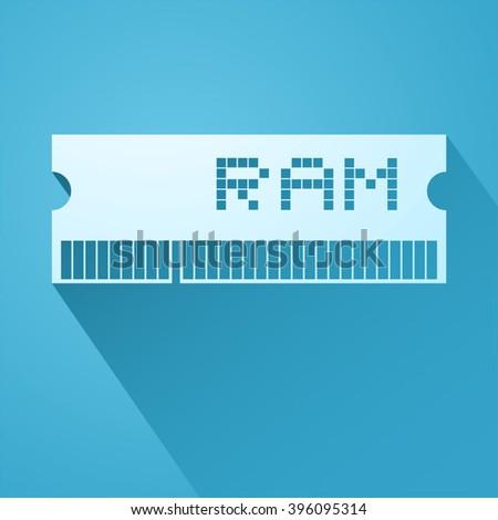 elegant ram memory icon - stock vector