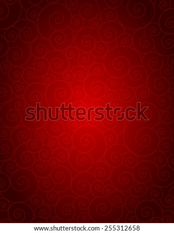 Elegant red spiral background specially for wedding , valentines day themed designs - stock vector