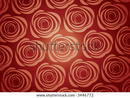 Elegant roses pattern illustration background - stock vector