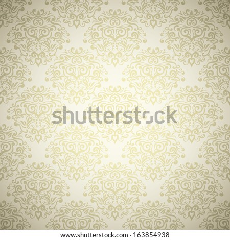 Elegant royal wedding background  with light damask design
