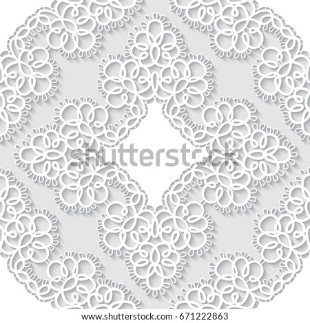 Elegant seamless lace pattern. Openwork background. Vector Illustration