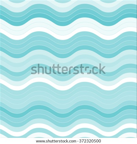Elegant seamless pattern in black and white. White-blue horizontal wavy lines