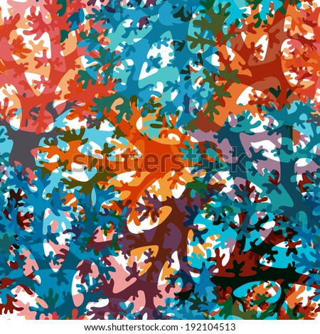 elegant seamless pattern with decorative corals, design element