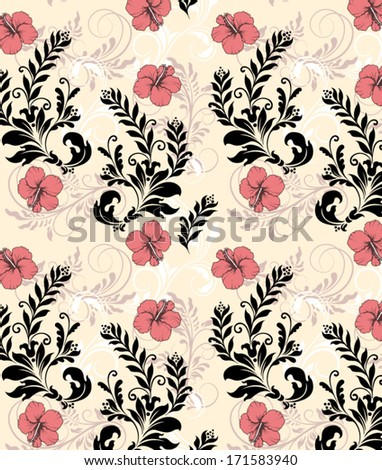 elegant seamless pattern with flowers - stock vector