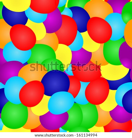 elegant seamless pattern with multicolor balloons for your design
