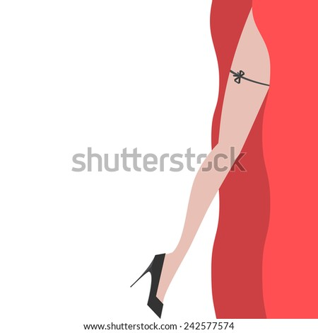 Elegant sexy women high heel shoe vector isolated illustration - stock vector