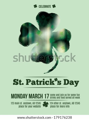 elegant St. Patrick's Day background - stock vector