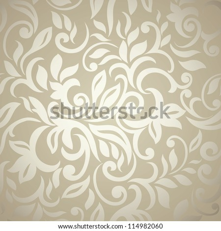 Elegant stylish abstract floral wallpaper. Seamless pattern - stock vector