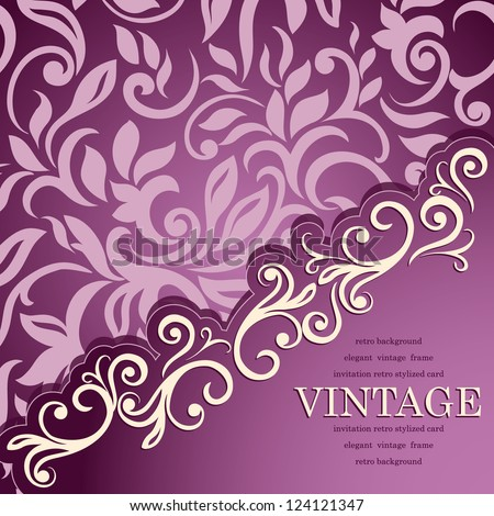 Elegant stylish designed vintage card
