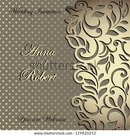 Elegant stylish wedding invitation florallace design stock vector elegant stylish wedding invitation floral lace design stopboris Image collections