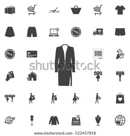 elegant suits icon. Universal Shop set of icons for web and mobile