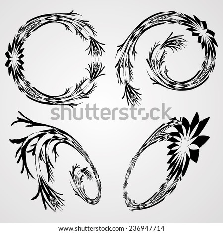 Elegant Swirl for Wedding Invitations. Abstract Decorative Elements Isolated on white Background.  - stock vector