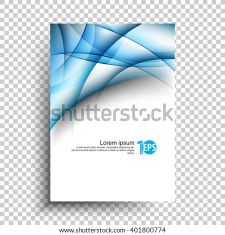 elegant transparency bent lines elements conceptual abstract design. eps10 vector - stock vector