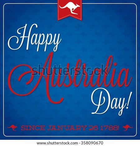 Elegant typographic Australia Day card in vector format. - stock vector