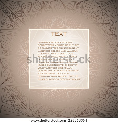 elegant vector frame with place for your text - stock vector