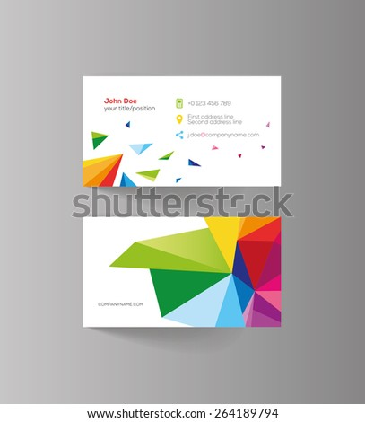 Elegant vector graphic business card with sample text - stock vector