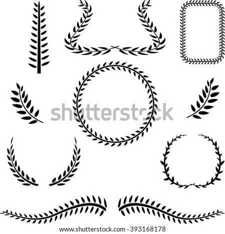 Elegant Vector Laurels - stock vector