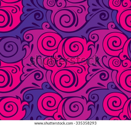 Elegant Vector seamless pattern with curly patterns. beautiful pattern Girls