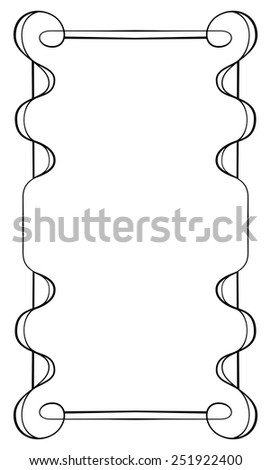 Elegant vector vertical frame on a white background - stock vector